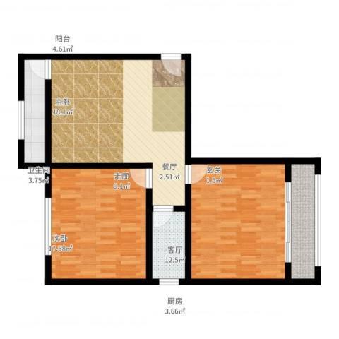 八中宿舍2室2厅1卫1厨105.00㎡户型图