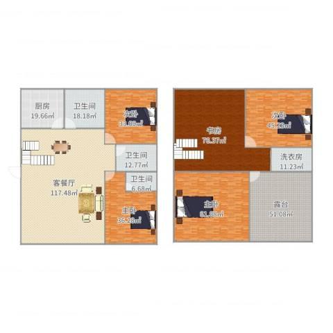 芙蓉苑5室2厅3卫1厨612.00㎡户型图