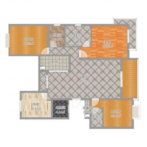 中大简界2室1厅2卫1厨184.00㎡户型图