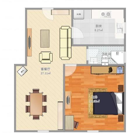 邻里苑-121-601室2厅1卫1厨70.00㎡户型图
