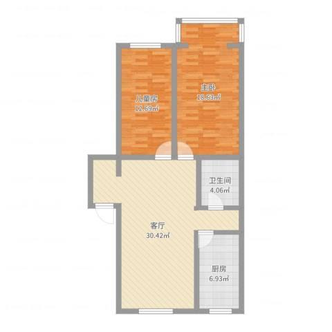 光华小区2室1厅1卫1厨91.00㎡户型图