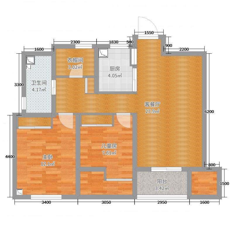 《北》金沙湖89方两室一厅