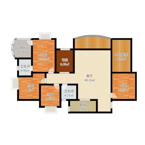 和泓南山道5室1厅2卫1厨191.00㎡户型图