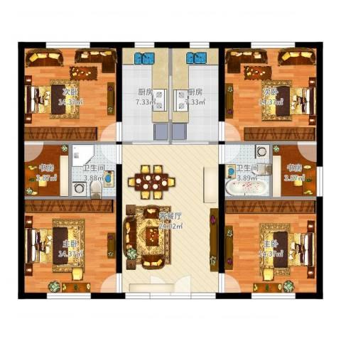 丽岛华都6室2厅2卫2厨140.00㎡户型图