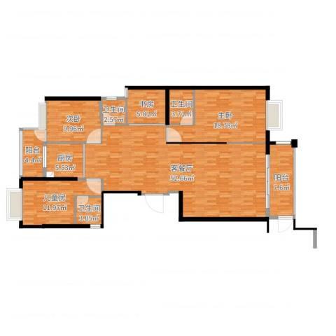 金丰花园4室2厅3卫1厨158.00㎡户型图