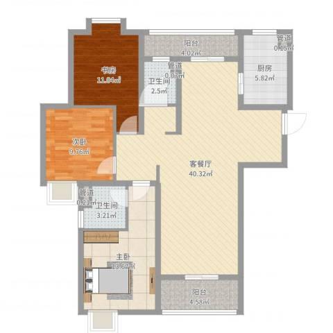 世茂世界湾3室2厅5卫1厨119.00㎡户型图