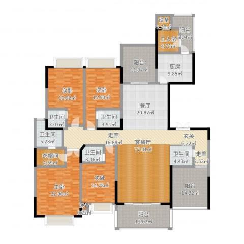 松山湖鹭栖湖4室2厅5卫1厨289.00㎡户型图
