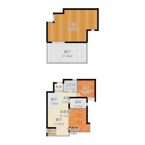 华美橡树岭1室1厅1卫1厨144.54㎡户型图
