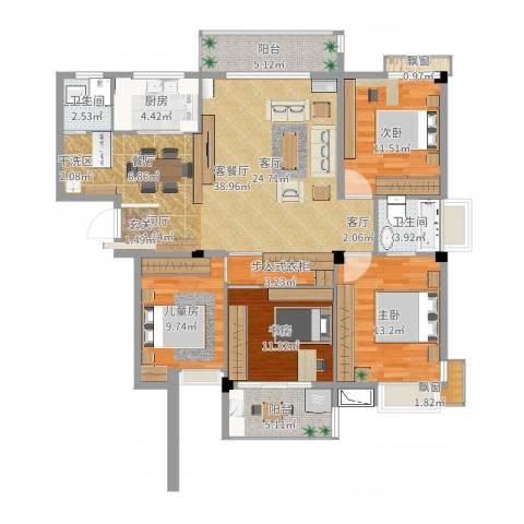 海滨壹号3室2厅1卫1厨121.00㎡户型图