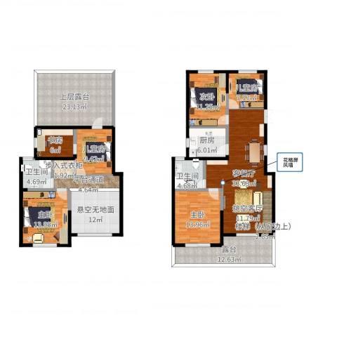 清华苑6室2厅2卫1厨206.00㎡户型图