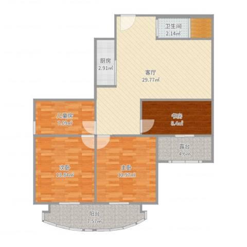嘉怡苑4室1厅1卫1厨115.00㎡户型图