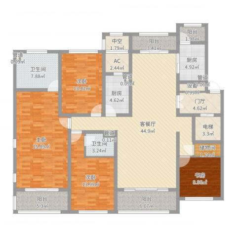 同进君望4室2厅2卫2厨200.00㎡户型图