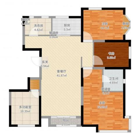 万都城4室2厅5卫1厨147.00㎡户型图
