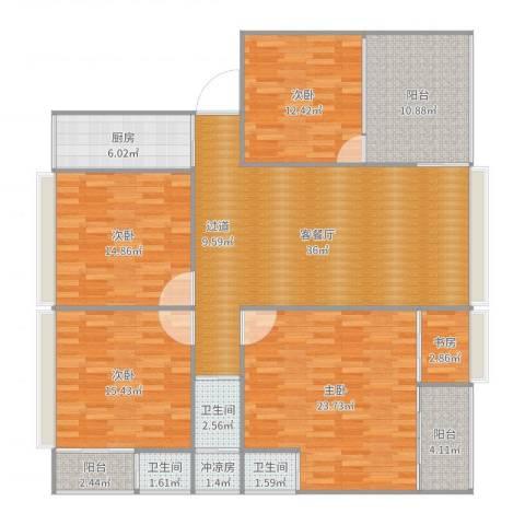 自建房5室2厅3卫1厨170.00㎡户型图