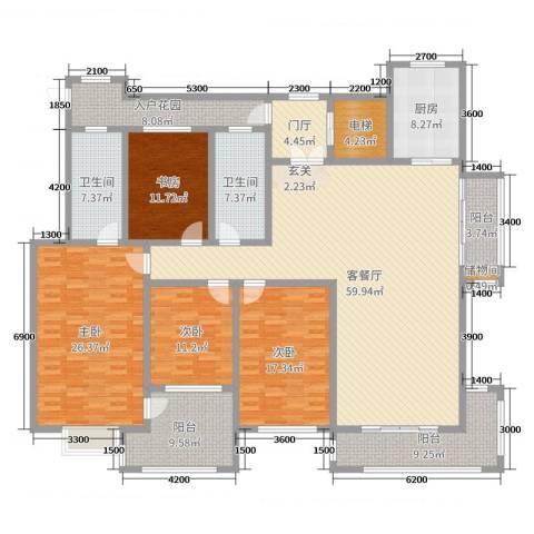 国华印象・山语墅4室2厅2卫1厨221.00㎡户型图