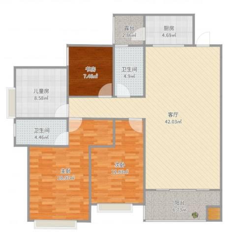 世通和府4室1厅2卫1厨143.00㎡户型图