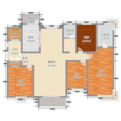 国华印象・山语墅4室2厅2卫1厨213.00㎡户型图