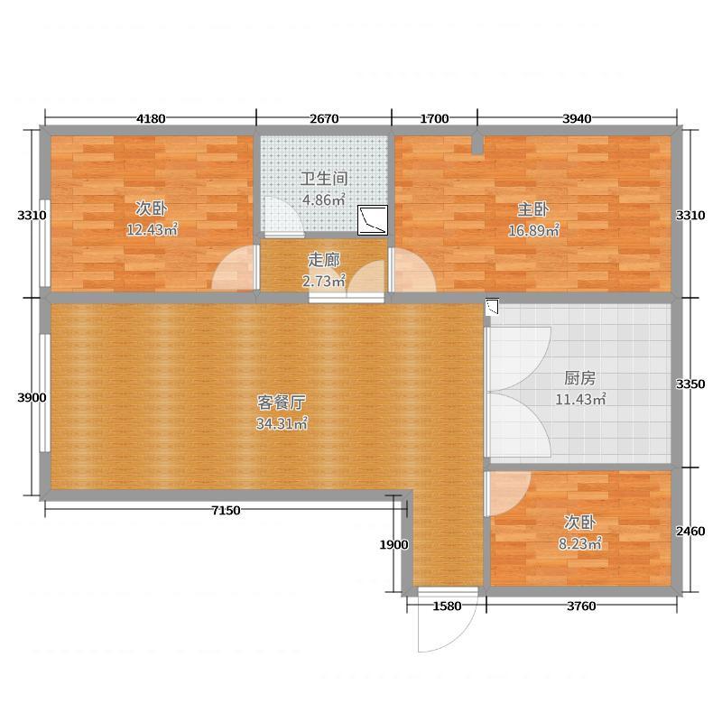 裕馨家园阁楼平面图1
