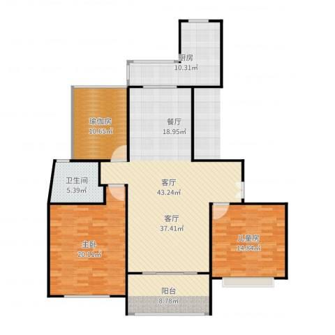 永达城市公寓2室1厅1卫1厨142.00㎡户型图