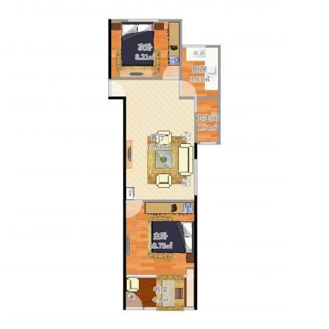 天乐小区3室1厅1卫1厨59.00㎡户型图