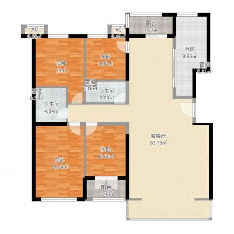 保利西山林语别墅4室2厅2卫1厨175.00㎡户型图