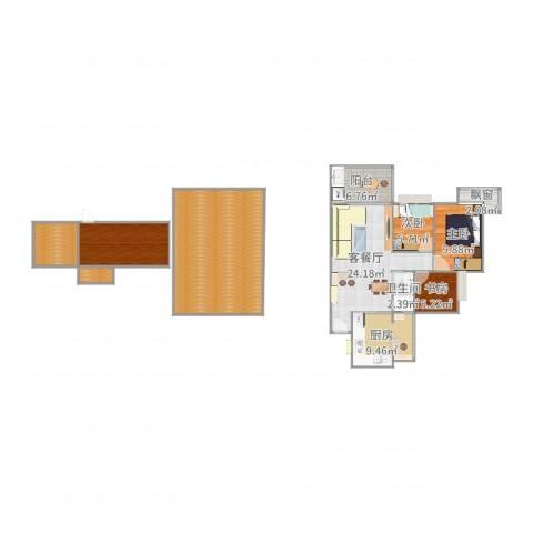 雍景豪园3室2厅1卫1厨150.00㎡户型图