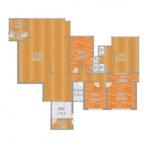 第一湾4室2厅5卫1厨250.00㎡户型图