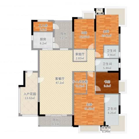 清华居4室2厅3卫1厨213.00㎡户型图