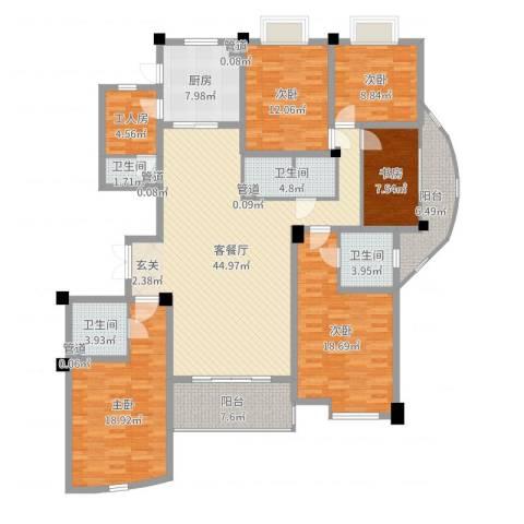 勤德家园5室2厅4卫1厨190.00㎡户型图