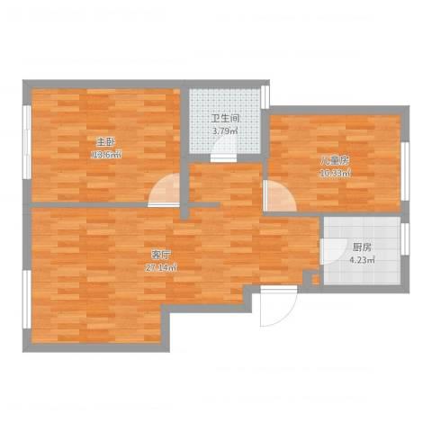 石浦半岛华府2室1厅1卫1厨74.00㎡户型图