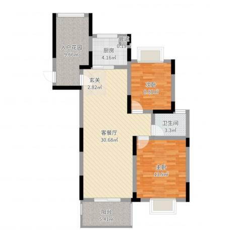 嘉宇万豪名苑2室2厅1卫1厨95.00㎡户型图