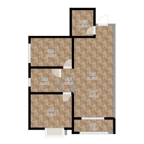 西安公馆2室1厅1卫1厨85.00㎡户型图
