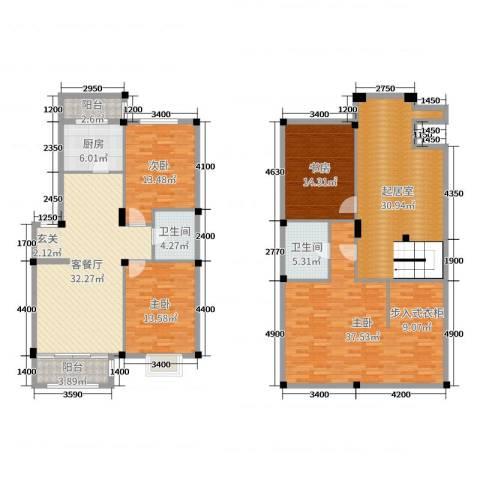 宏运・凤凰新城二期4室2厅2卫1厨164.20㎡户型图