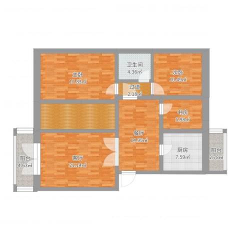 西红门九龙山庄3室2厅1卫1厨101.82㎡户型图