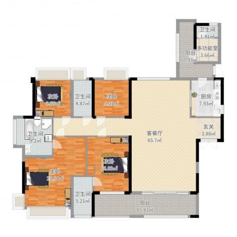 宝能太古城4室2厅4卫1厨226.00㎡户型图