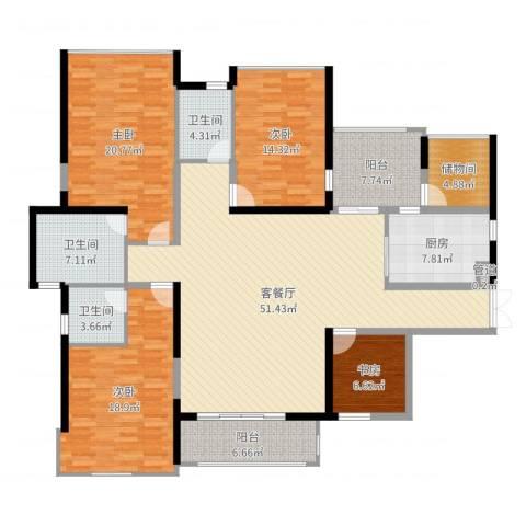 菩提园4室2厅3卫1厨193.00㎡户型图
