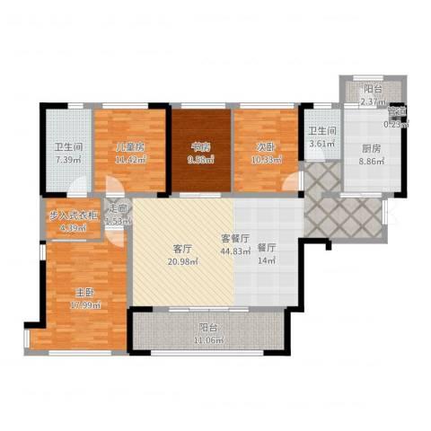 万科紫台4室2厅2卫1厨165.00㎡户型图