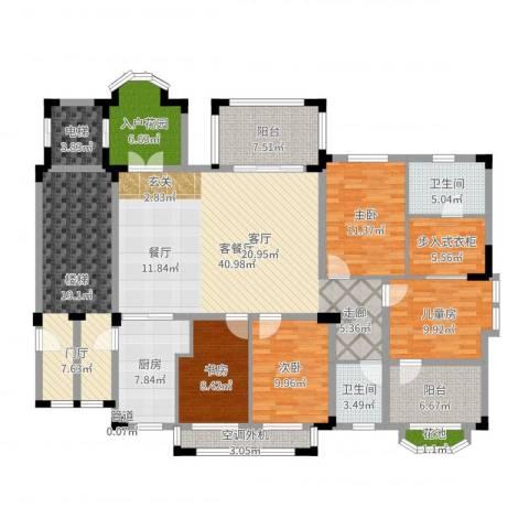 万科紫台4室2厅2卫1厨188.00㎡户型图