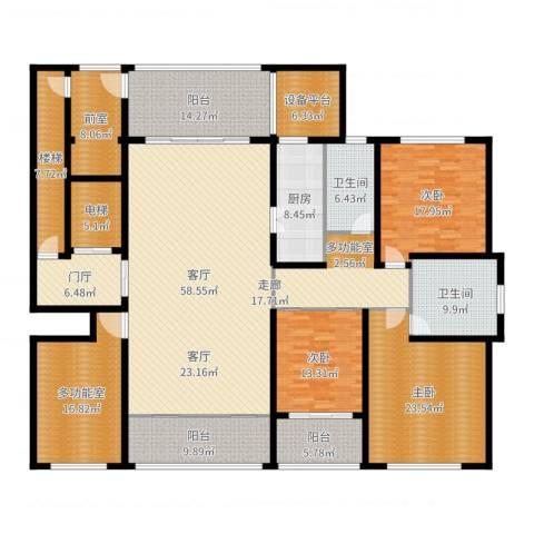 海鑫花园3室1厅2卫1厨286.00㎡户型图