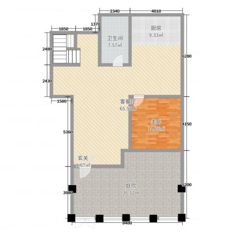 万成御园1室2厅1卫0厨155.00㎡户型图