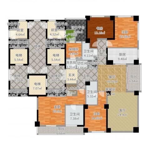 蠡湖香樟园4室2厅4卫1厨318.00㎡户型图