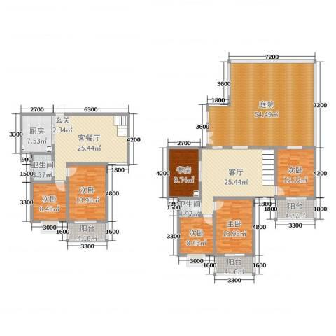天泽水岸6室3厅2卫1厨197.98㎡户型图