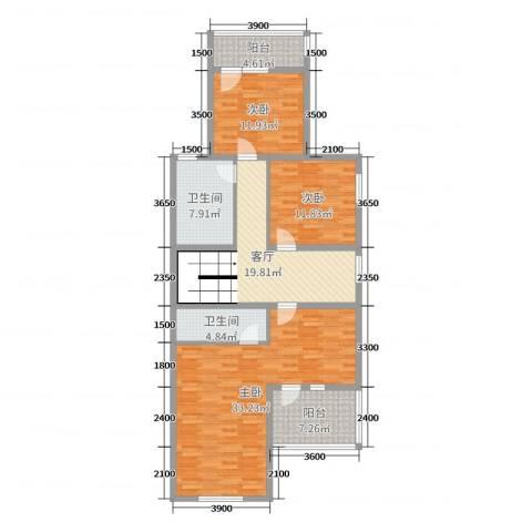 金亨世家3室1厅2卫0厨205.00㎡户型图