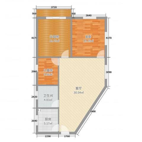 宏远花园2室1厅1卫1厨96.00㎡户型图