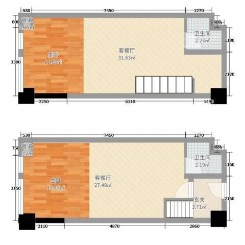 金辉悦府4厅2卫0厨67.57㎡户型图