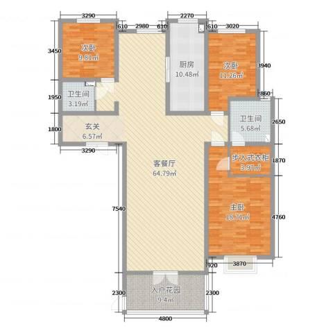 金域首府3室2厅2卫1厨193.00㎡户型图