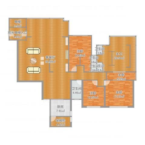 第一湾4室2厅5卫1厨200.04㎡户型图