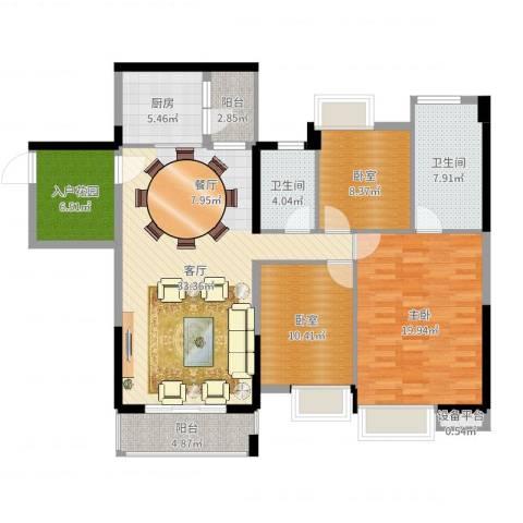 望龙轩1室1厅2卫1厨130.00㎡户型图