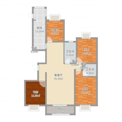 泛华盛世二期4室2厅2卫1厨158.00㎡户型图