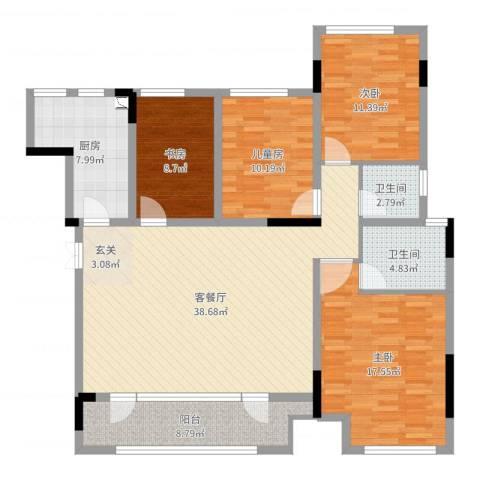 融创凡尔赛花园4室2厅2卫1厨139.00㎡户型图